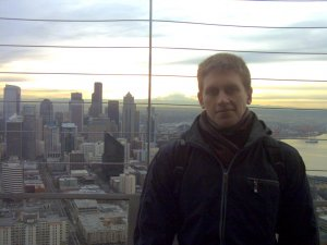 Top of the Space Needle. Seattle, WA, 2011